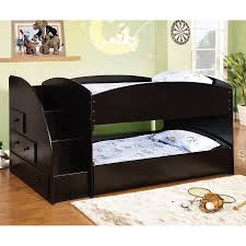Shop Furniture Of America Merritt Black Twin Over Twin Bunk Bed At - Furniture of america bunk beds
