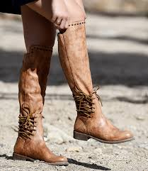 handmade tall leather boots for women bed stu