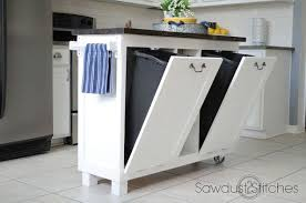kitchen island with garbage bin garbage can hacks how to organize your garbage