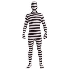 white and black striped morph suit halloween spandex men