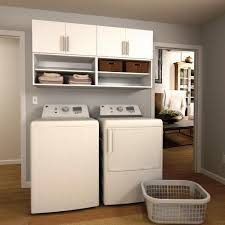 Open Shelving Cabinets Modifi Horizon 60 In W White Open Shelves Laundry Cabinet Kit