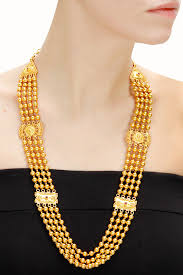 gold plated beads necklace images Gold plated beads rani haar necklace available only at pernia 39 s jpg