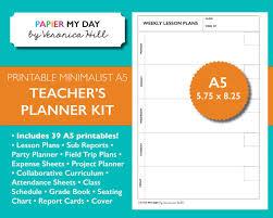 a5 filofax teacher u0027s planner kit lesson plans and grade