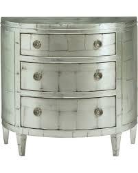 Silver Leaf Nightstand Amazing Deal On Arlene Regency Demilune Silver Leaf
