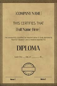 old vintage certificate diploma template postermywall