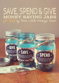 free printable monkey save spend and give jars by three little monkeys studio free