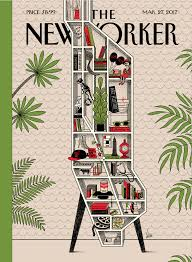 New York Manhattan Map This Week U0027s New Yorker Cover Features A Clever Bookshelf Map Of