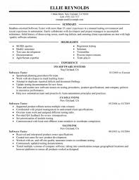 Quality Assurance Resume Templates Software Qa Resume Lukex Co