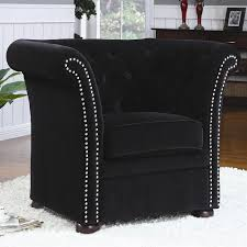 Black Accent Chair Black High Back Accent Chair By Coaster 902032