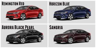 2017 kia optima exterior paint options interior color choices