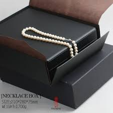 pearl necklace jewelry box images Top black leather jewelry casket for pearl exclusive or design jpg