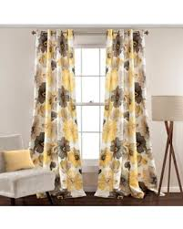 Yellow And Gray Window Curtains Amazing Deal On Lush Décor 108 Grommet Top Room Darkening