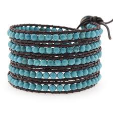 wrap bracelet with beads images 4mm turquoise beads victoria emerson jpg