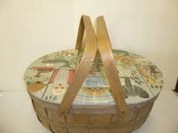 vintage picnic basket vintage picnic basket aj s trash2treasure