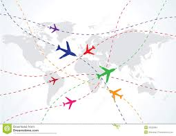 travel world map world travel map with airplanes illustration 25225804 megapixl