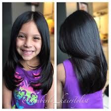 kids angle haircut medium length hair cut for little girls kids and things