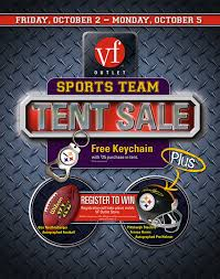 Vanity Fair Outlet Lancaster Pa Vf Outlet Sports Team Tent Sale Promo On Behance