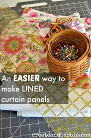 Sewing Curtains With Lining An Easy Way To Make Lined Curtains Create And Babble