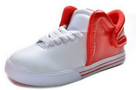 white red bottoms wallskid