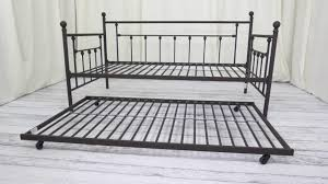 dhp manila metal framed daybed with trundle twi review youtube