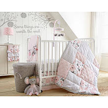 levtex baby elise pink plush bird musical mobile babies nursery