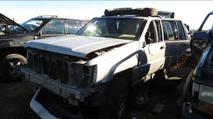 wrecked black jeep grand cherokee 1997 jeep grand cherokee orvis edition u2013 junkyard find