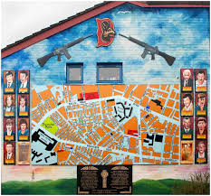 literary cartography dark tourism in post troubles belfast falls road garden of remembrance mural