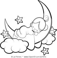 Crescent Moon Coloring Page Angels Sleeping Angels The Crescent A Coloring