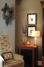 coo coo clock in living room contemporary with taupe bedrooms next