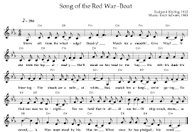 song of the war boat