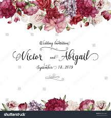 Invitation Card With Photo Greeting Card Flowers Watercolor Can Be Stock Illustration