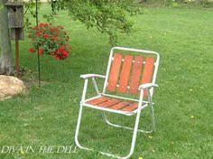Vintage Aluminum Folding Chairs Vintage Lawn Deck Camping Chair Web Aluminum Folding Webbed Patio