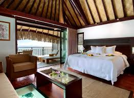 chambre sur pilotis hôtels à papetoai moorea lagoon resort spa