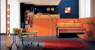 Inspiration  Orange Kids Room Interior Design Decoration Of - Design for kids bedroom
