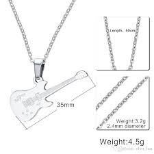 guitar necklace pendants images Wholesale cute guitar necklace pendant for women men silver gold jpg
