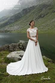 dh com wedding dresses two pieces scoop neck cap sleeve a line wedding dresses chiffon