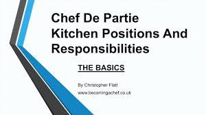 chef de cuisine definition the chef de partie chef de partie kitchen and
