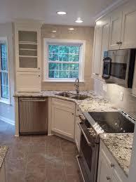 Small Corner Kitchens Kitchen Sink In Corner Design