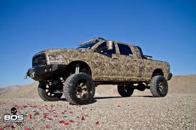 cummins truck lifted sema trucks full flex customs camo cummins bds