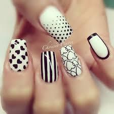 64 best black n white nail art images on pinterest white nails