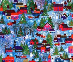 1970 christmas nostalgia vintage 1970 u0027s christmas gift wrap blue