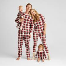 burt s bees baby infant organic cotton plaid pajamas cranberry