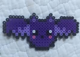 Bat For Halloween Perler Bead Little Purple Bat For Halloween Perler Beads