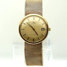 gold omega bracelet images Omega geneve 9ct gold automatic 564 date original 9ct bracelet jpg