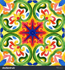 portuguese azulejo tiles green gorgeous seamless stock