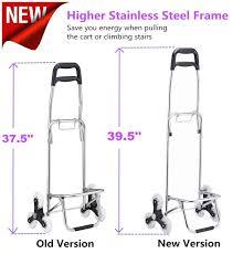 amazon com upgraded folding shopping cart stair climbing cart