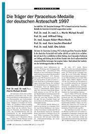 Urologe Bad Nauheim Die Träger Der Paracelsus Medaille Der Deutschen ärzteschaft 1997