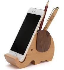 telephone stand desk organizer wooden elephant pencil holder desk organizer phone stand holder