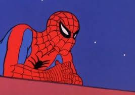Meme Generator Spiderman - spiderman thinking blank template imgflip