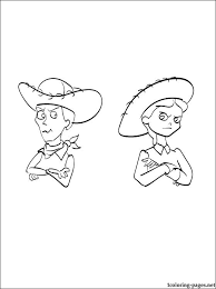 coloring jessie woody toy story 3 coloring pages